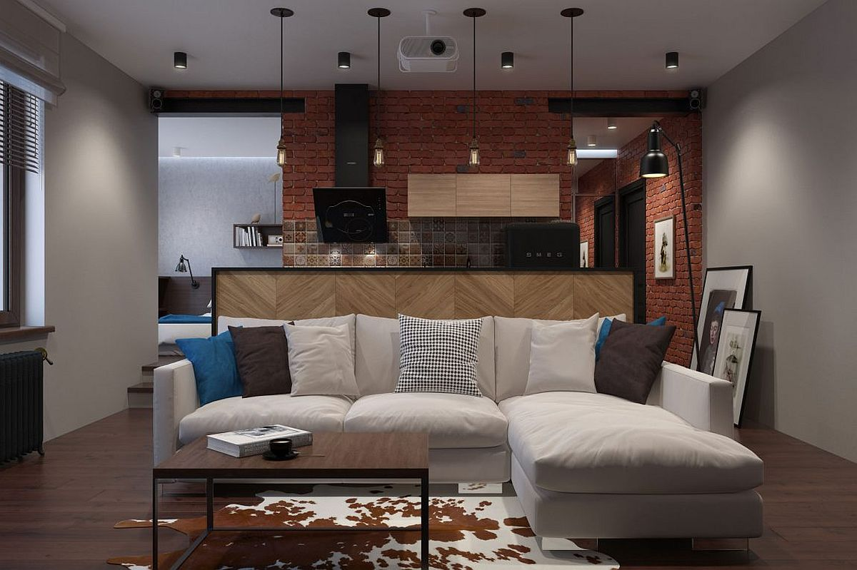 Innovative, Industrial and Space-Savvy: Tiny Bachelor Pad Does It All!