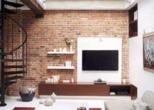 Living-room-entertainment-unit-with-brick-wall-backdrop-217x155