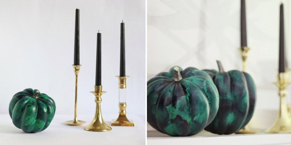 Malachite pumpkins from Hank & Hunt