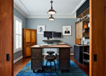 colorful contemporary modern industrial. Dashing Contemporary Home Office Blends Gray With Colorful Zest [Design: K\u0026L Interiors] Modern Industrial A