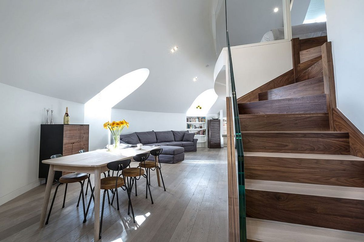 Modern penthouse apartment inside a coverted church in London This Awesome London Penthouse Sits Inside a Revamped Orthodox Church!
