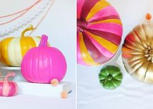 Multicolored DIY peppy pumpkins idea
