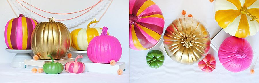Multicolored DIY peppy pumpkins idea [From: delineate your dwelling]