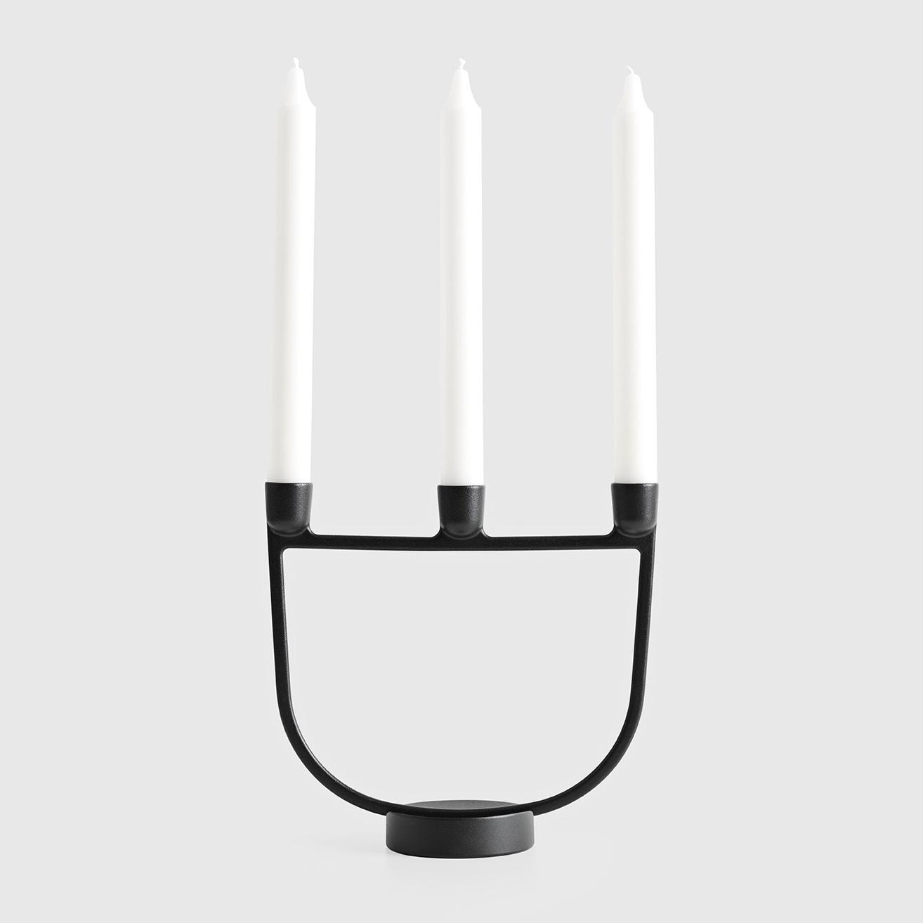 Open candelabra black.