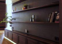 Open shelves for the modern living room