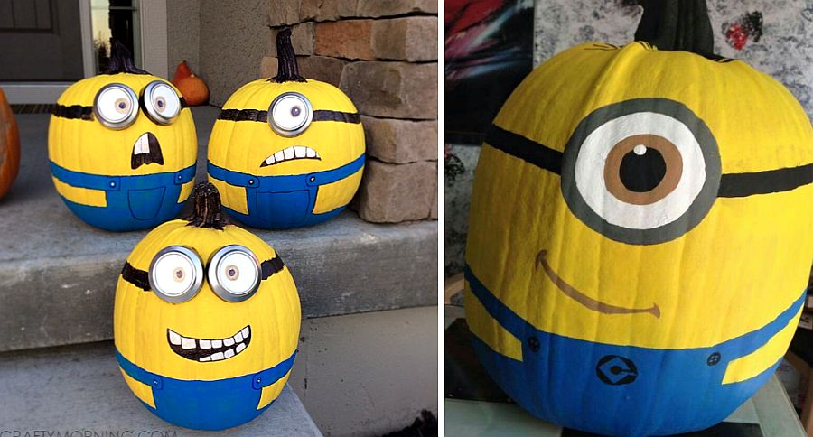 Painted Minion pumpkins for Halloween [From: crafty morning]