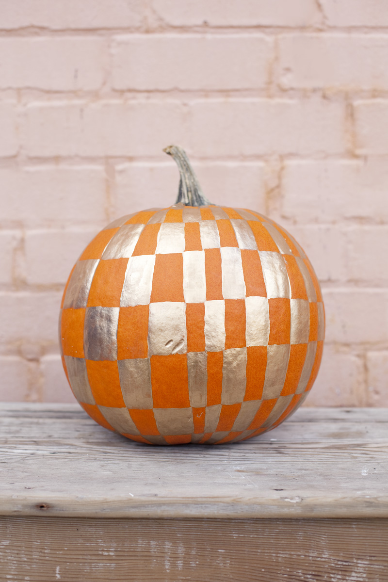 Painted pumpkin from A Beautiful Mess