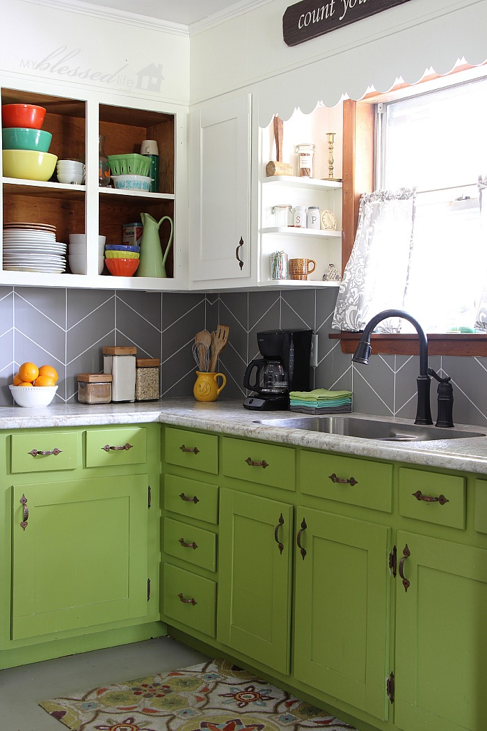 Painted Backsplash Ideas diy kitchen backsplash ideas