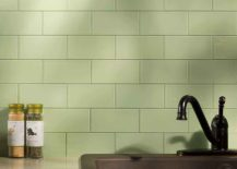 Peel-and-stick glass tile from Aspect