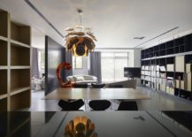 Pendant light steals the show in the dining room