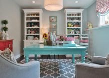 Pick-a-shade-of-blue-you-absolutely-love-to-enliven-the-gray-home-office-and-crafts-zone-217x155