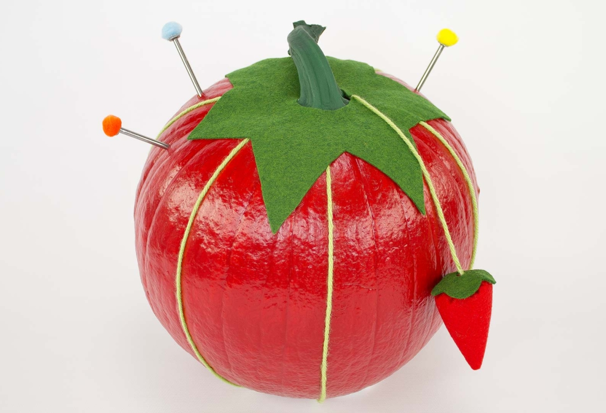 Pincushion pumpkin from Professor Pincushion