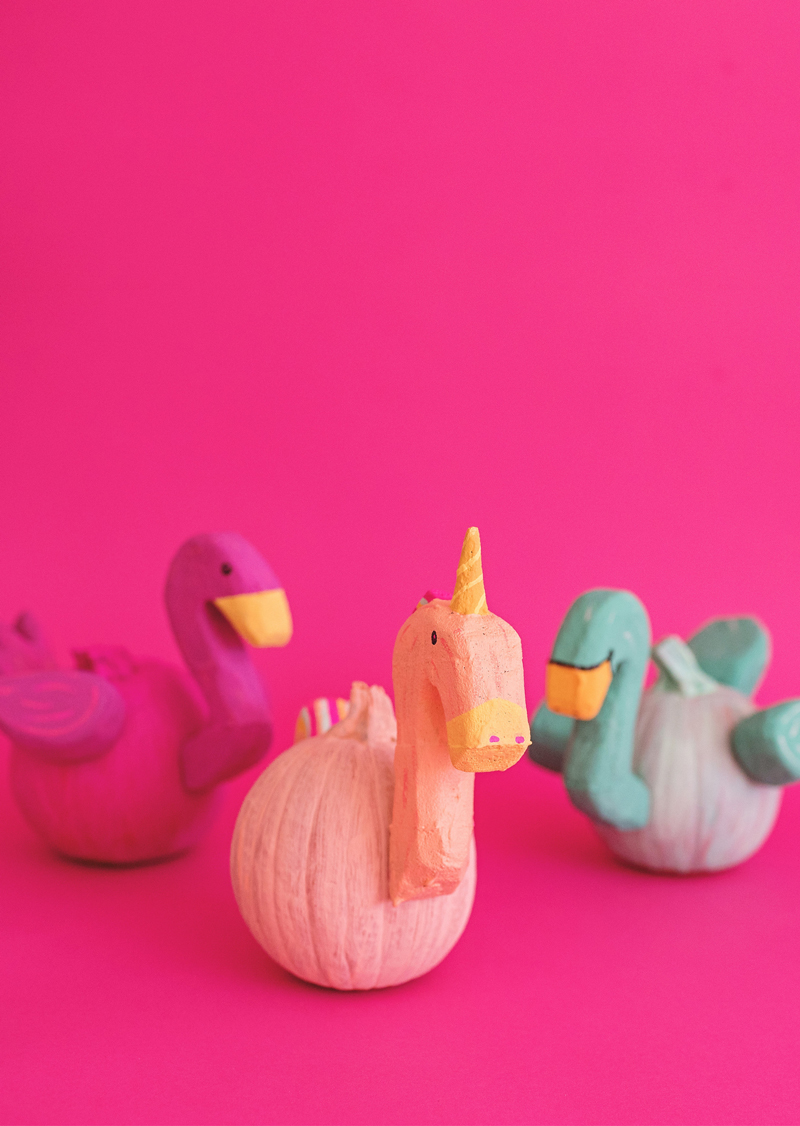 Pool float pumpkins from A Subtle Revelry