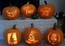 Pumpkin carving and stencils for a cool Harry Potter themed Halloween