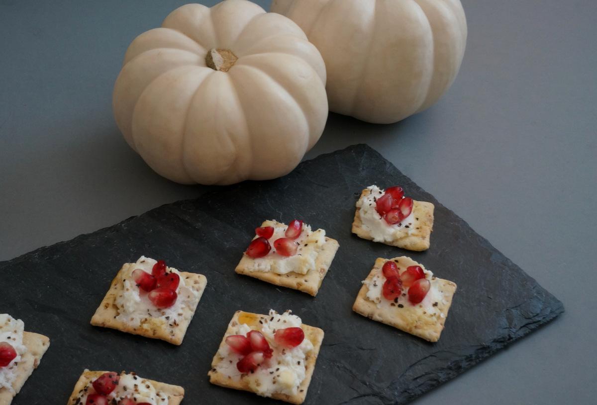Pumpkins and pomegranate seeds