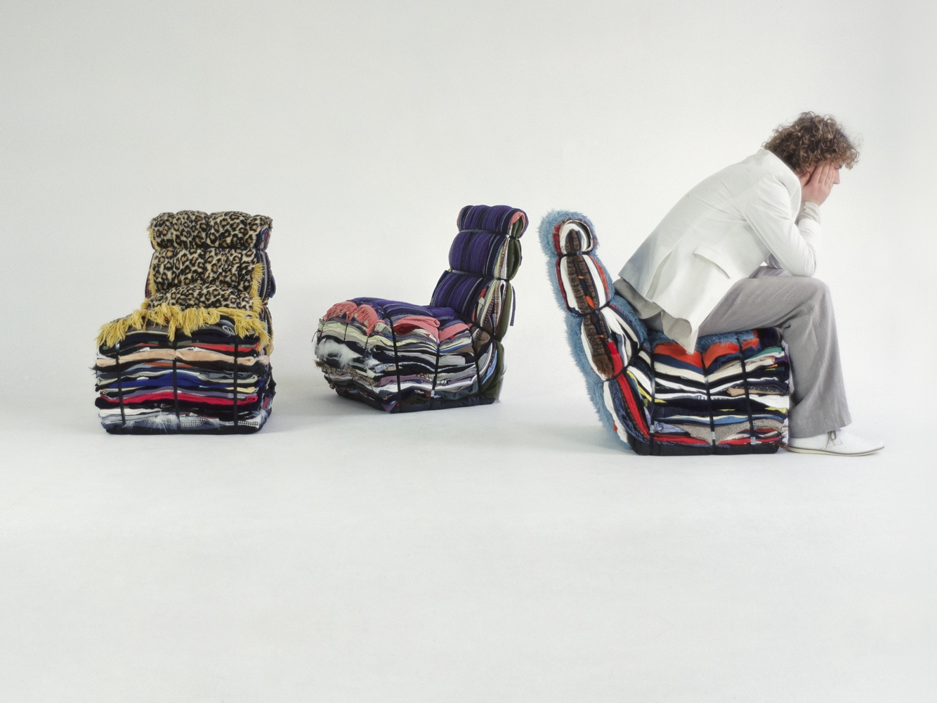 Rag chair by Tejo Remy.