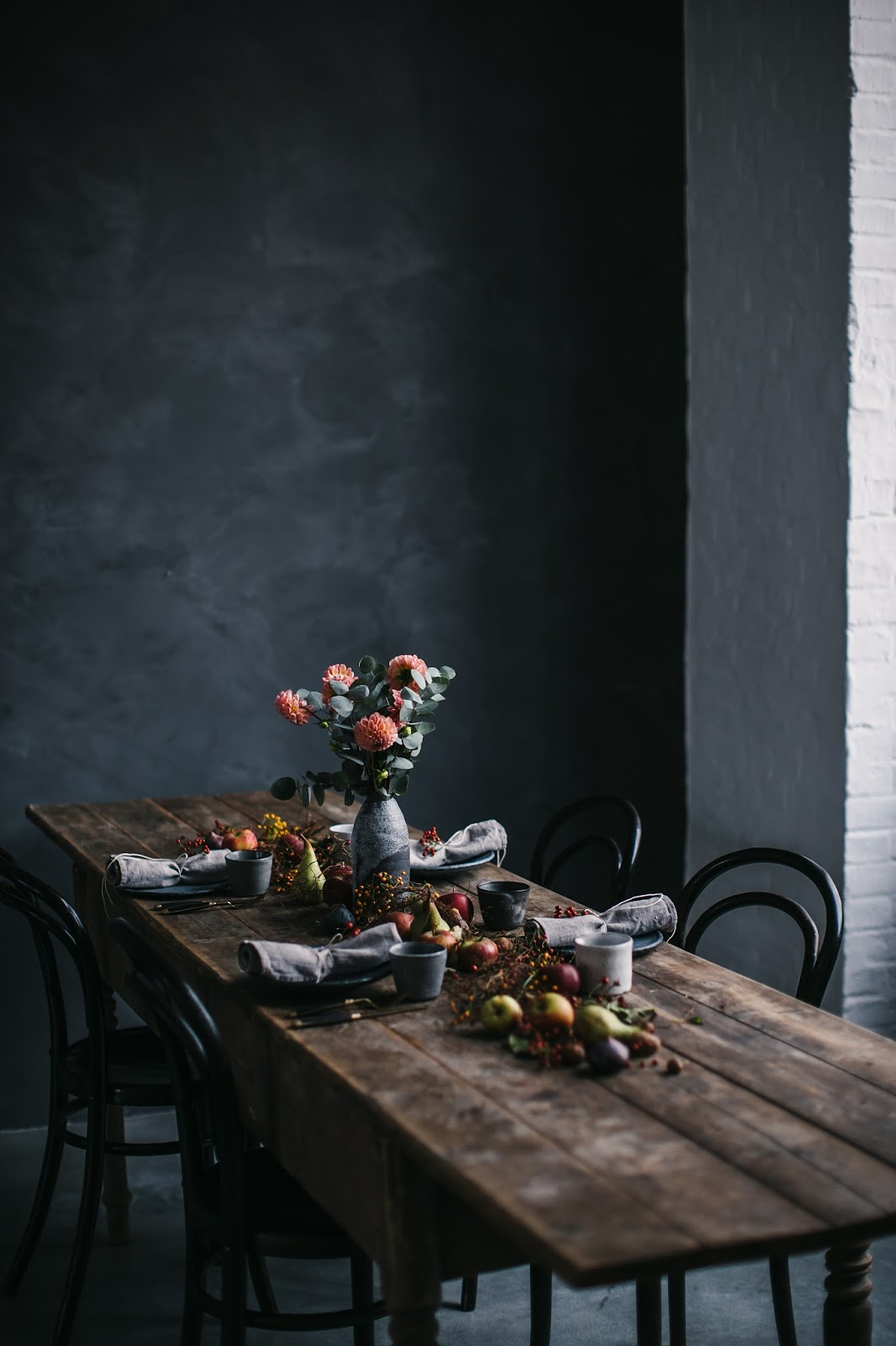 Rustic dining room from Our Food Stories