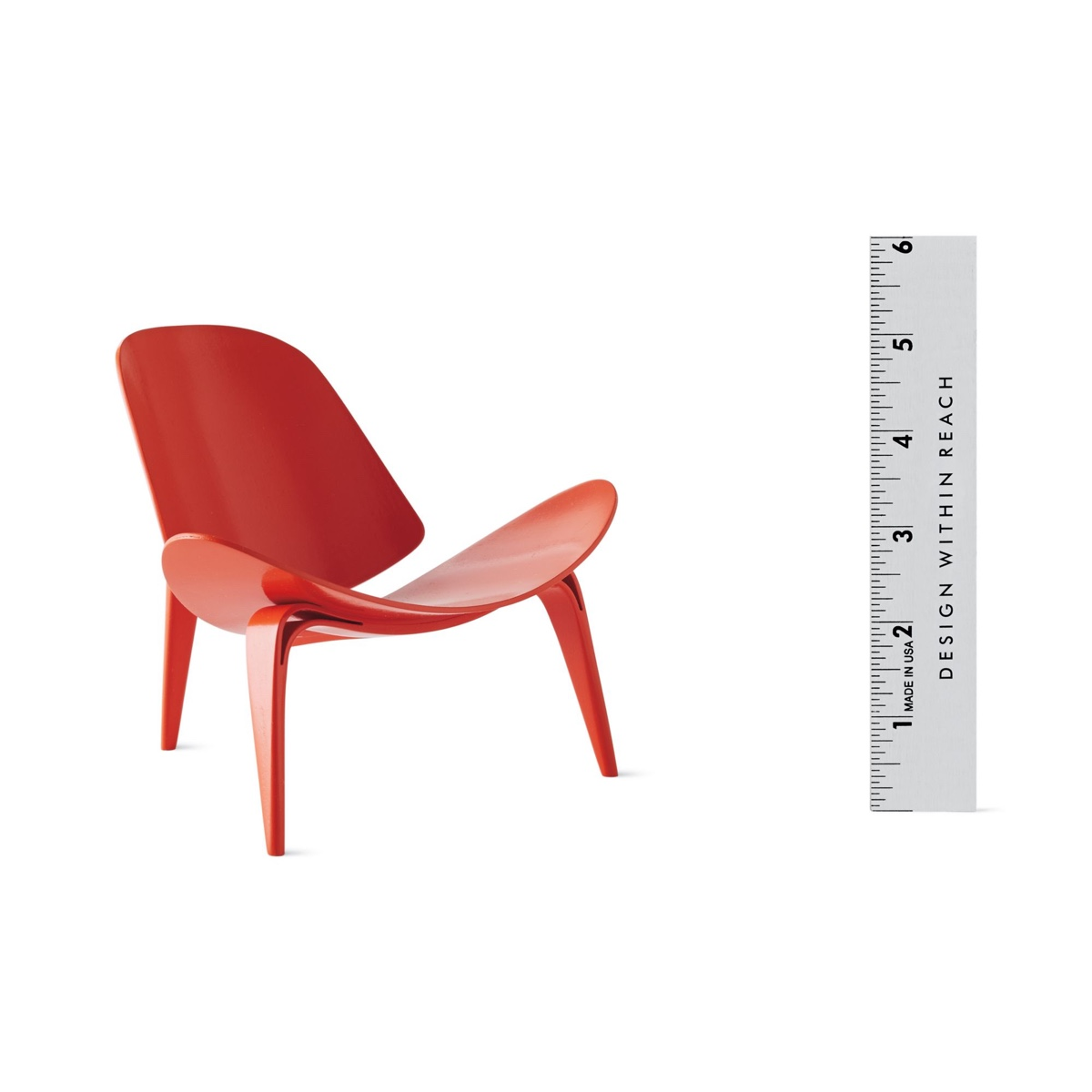 Vitra miniatures: the Shell chair, designed by Hans J. Wegner and produced byVitra Design Museum. Image© 2016 Design Within Reach.