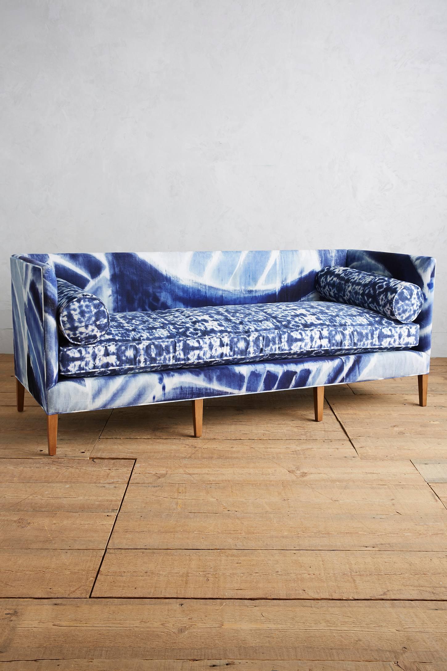Shibori-inspired sofa from Anthropologie