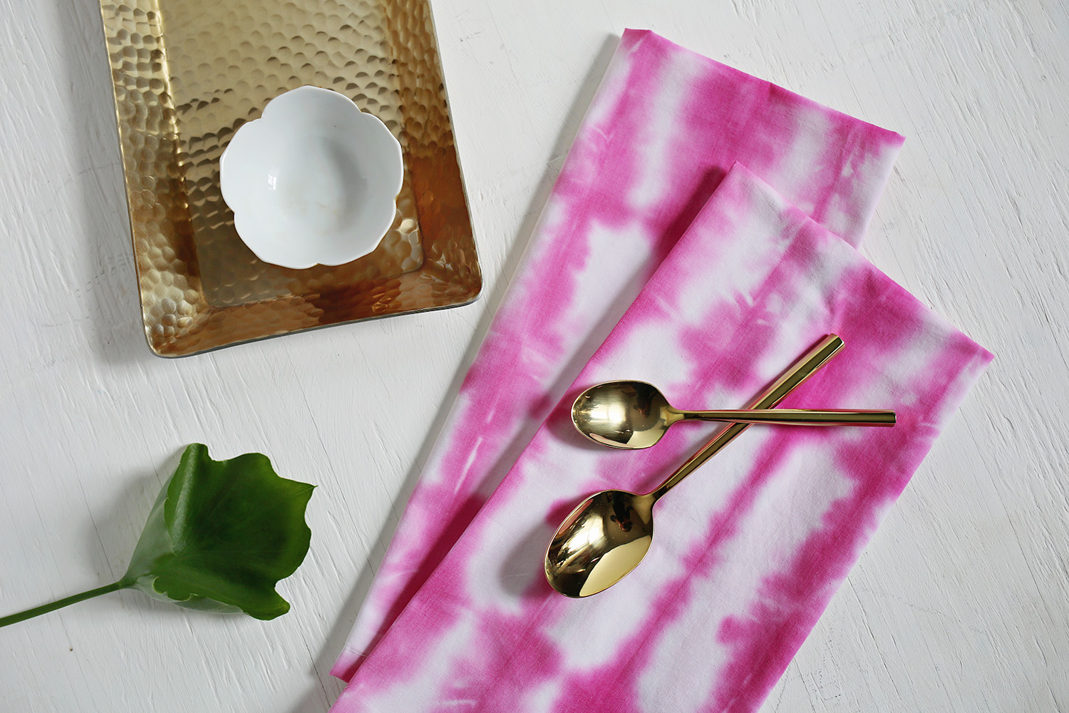 Shibori napkins from A Beautiful Mess