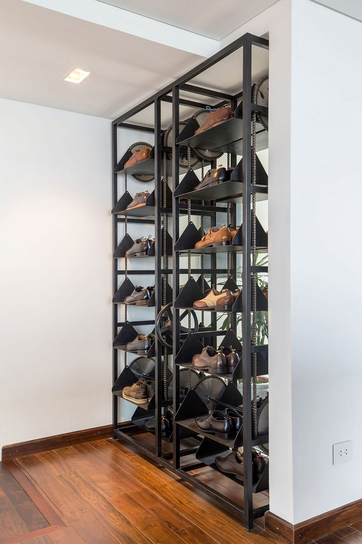 Shoe rack inside the master bedroom