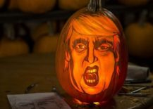 Show your love for trump with this cool pumpkin carving [From: Huffington Post]