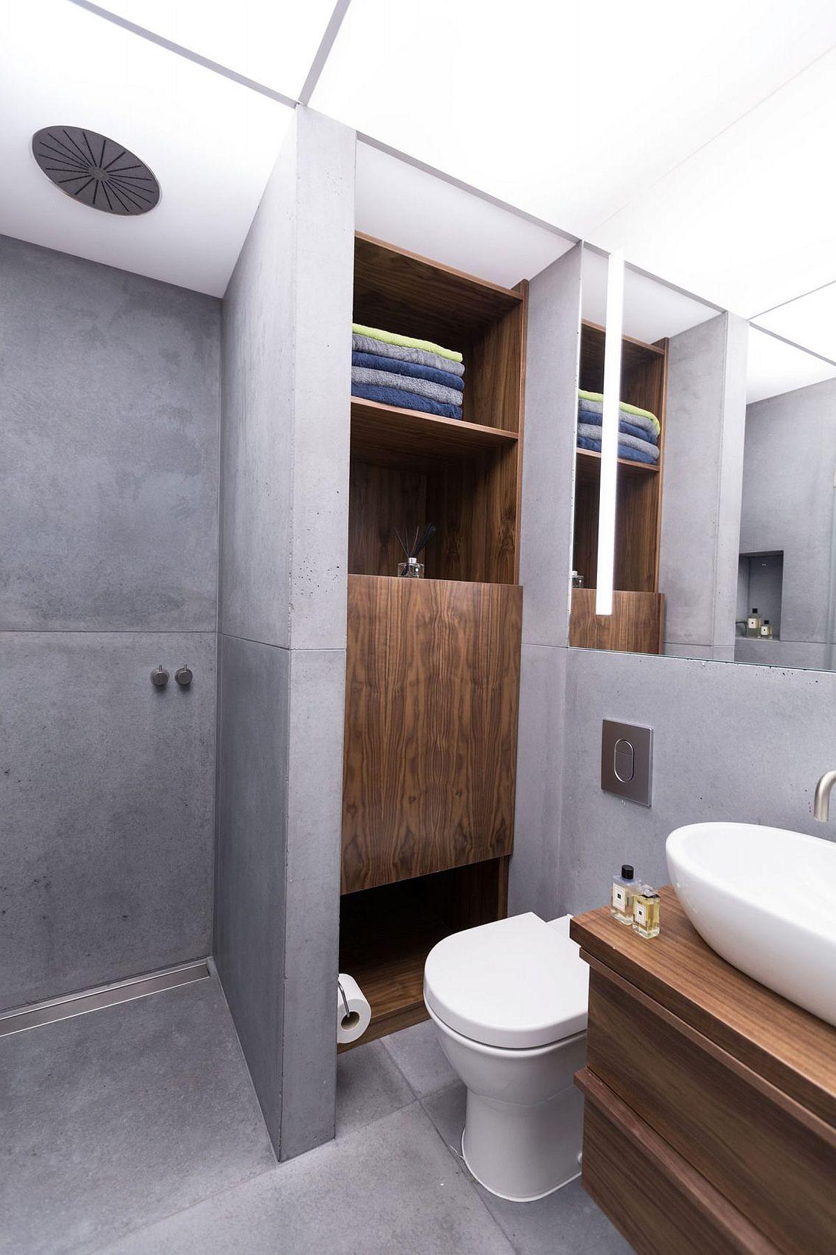 Small bathroom storage and display idea