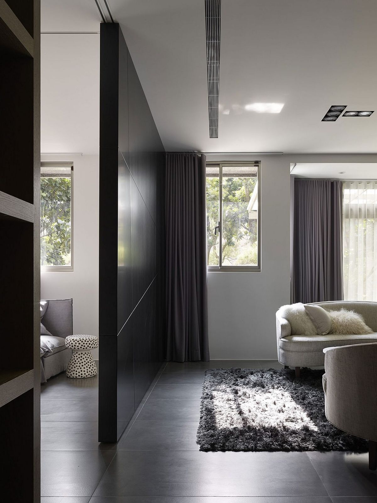 Smart Taipei home in gray, white and black