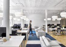 Smart arrangement of desks creates a vibrant workspace inside the Karma HQ