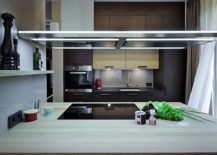 Smart island combines convenience of cooking with ease of serving