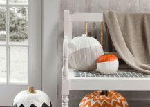 Snazzy and chic painted pumpin idea for Halloween with geo style