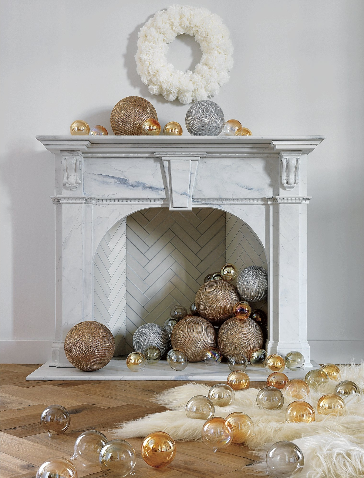 Snowball wreath from CB2
