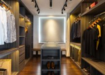 Spacious walk-in closet next to the master bedroom
