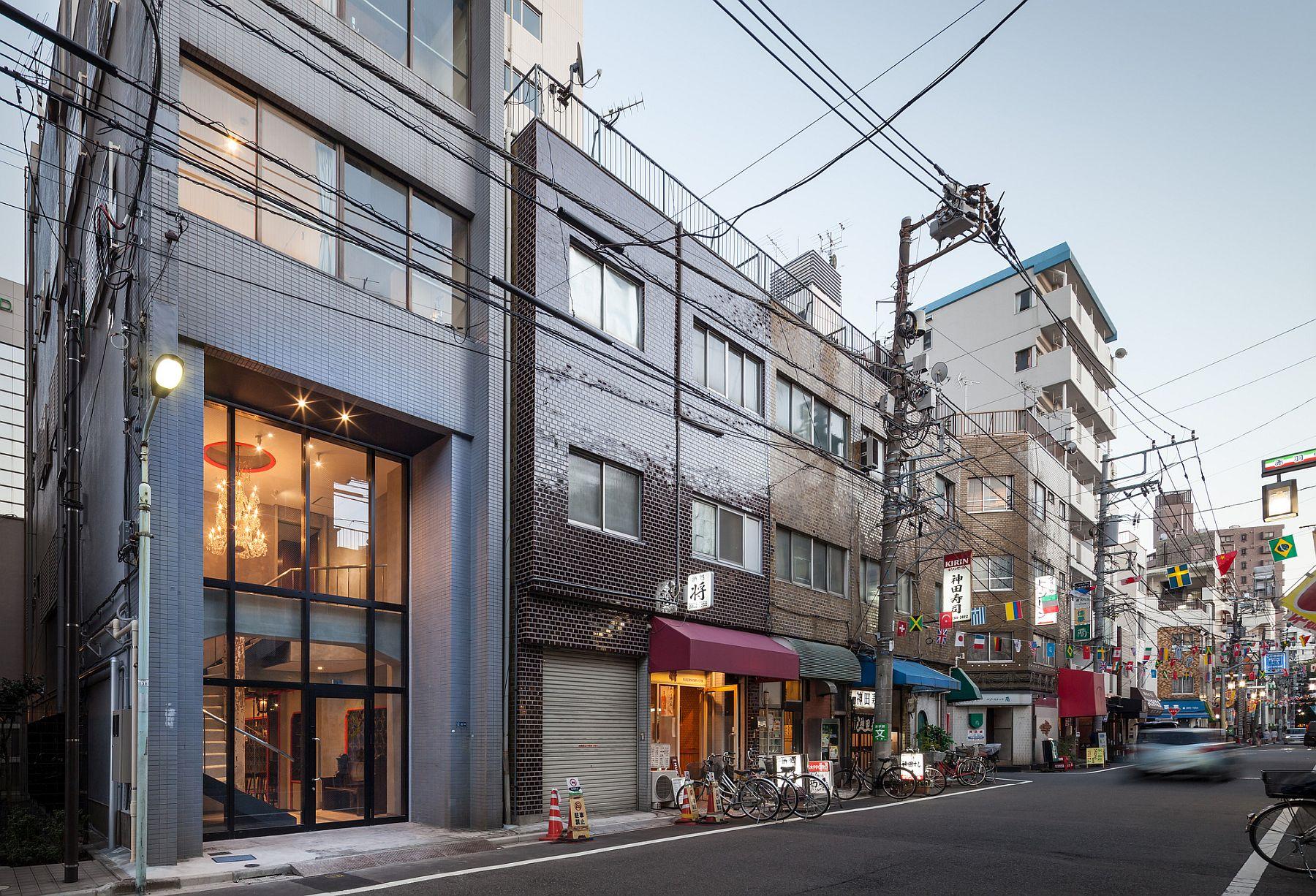 Street facade of Hotel ICHINICHI in Kita, Tokyo