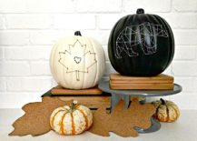 String art pumpkins to light up your porch this Halloween