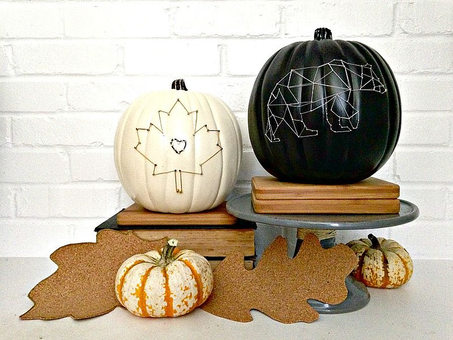 String art pumpkins to light up your porch this Halloween [From: houseologie]