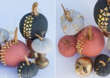 Studded chalkpaint pumpkins give your Halloween decor a punk look [From: Cuckoo4Design]