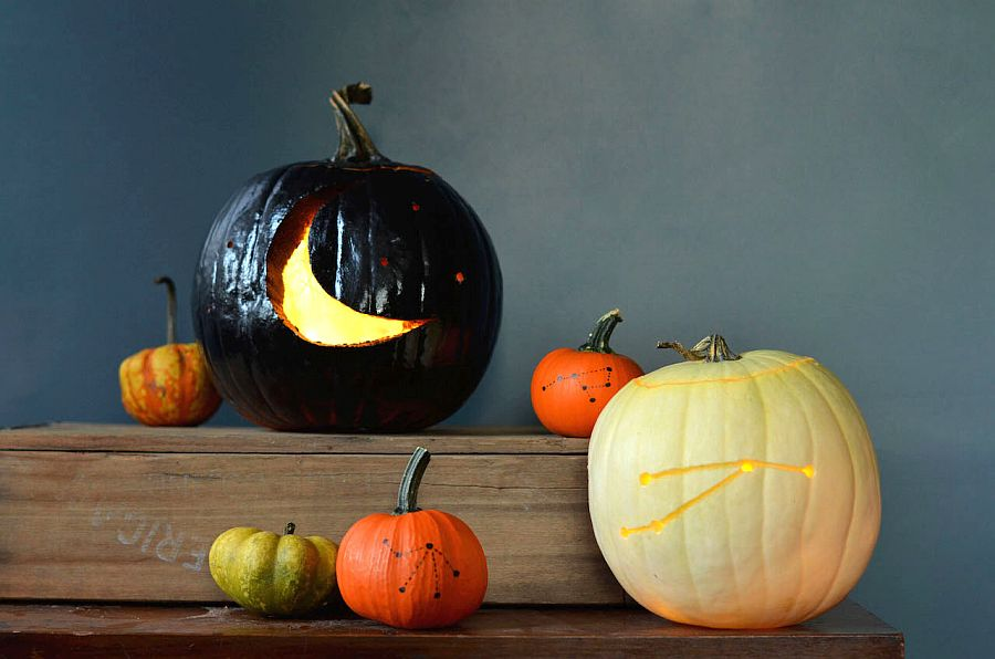 Stylish and hip constellation pumpkins from Fine and Feathered