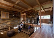 Sunken central living area of the Japanese home