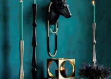 Teal holiday vignette from CB2