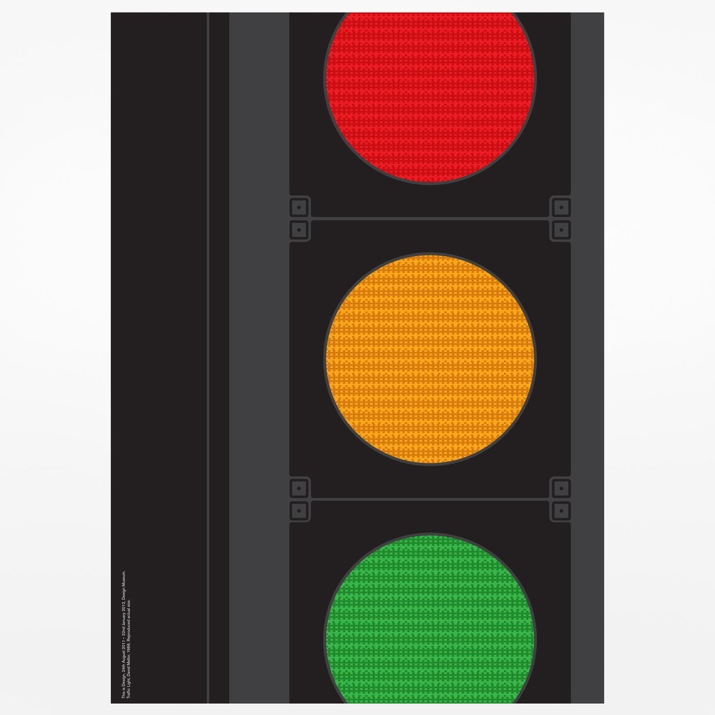Traffic Light Screenprint by Bibliothèque.