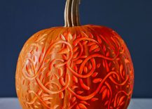 Turn you carved pumpkin into an artistic masterpiece with this snazzy design from John Kernick