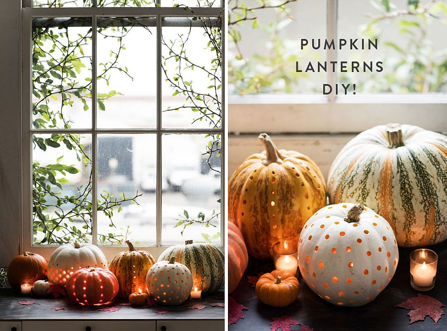 Uber-cool DIY pumpkin Lanterns [From: Design Love Fest]