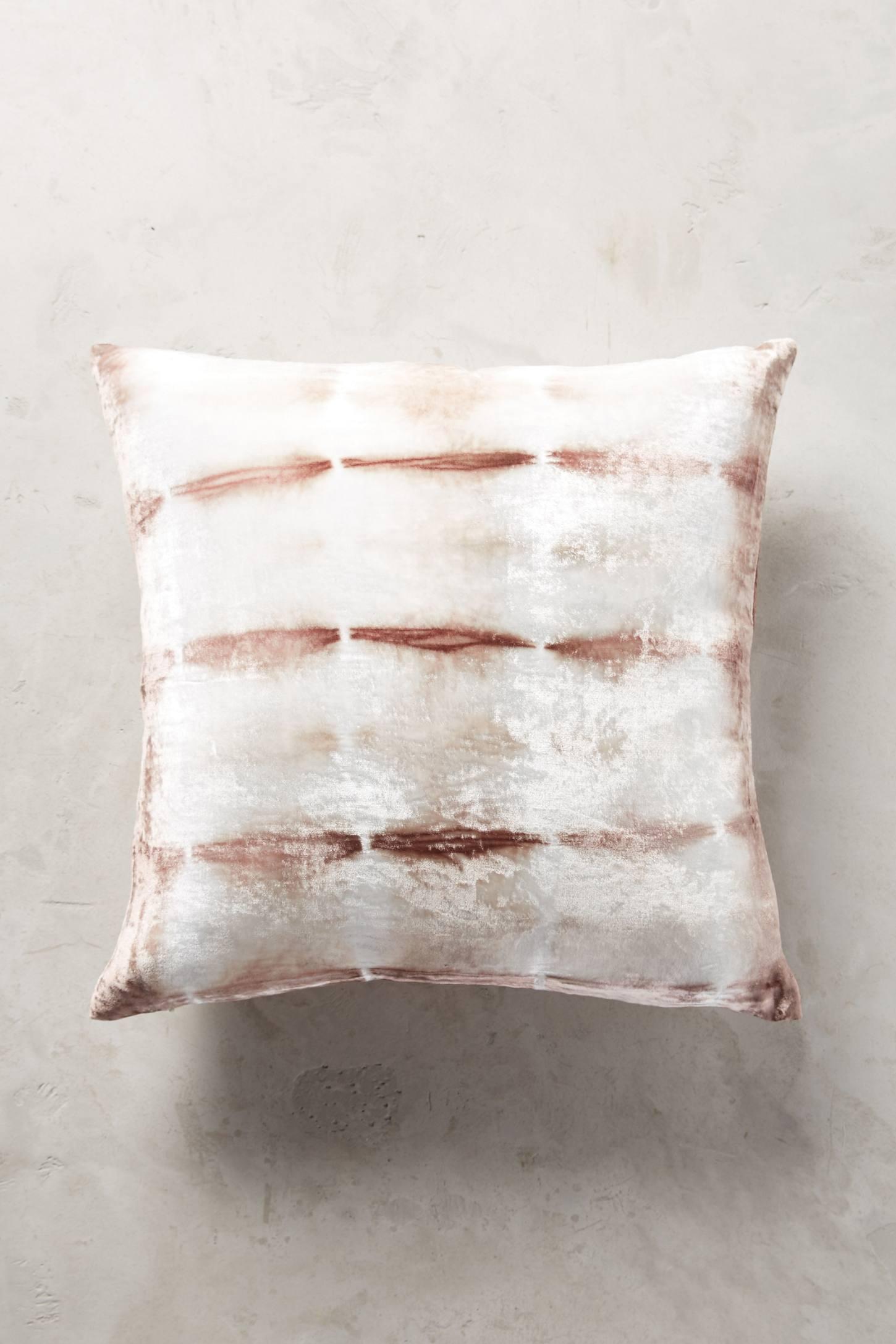 Velvet Shibori pillow from Anthropologie