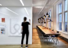 War room of the Karma office with Tom Dixon pendant lights