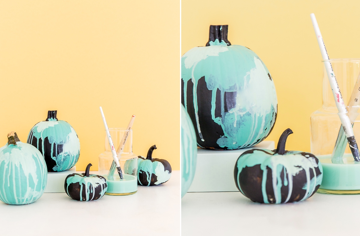 Watercolor pumpkins from Paper & Stitch