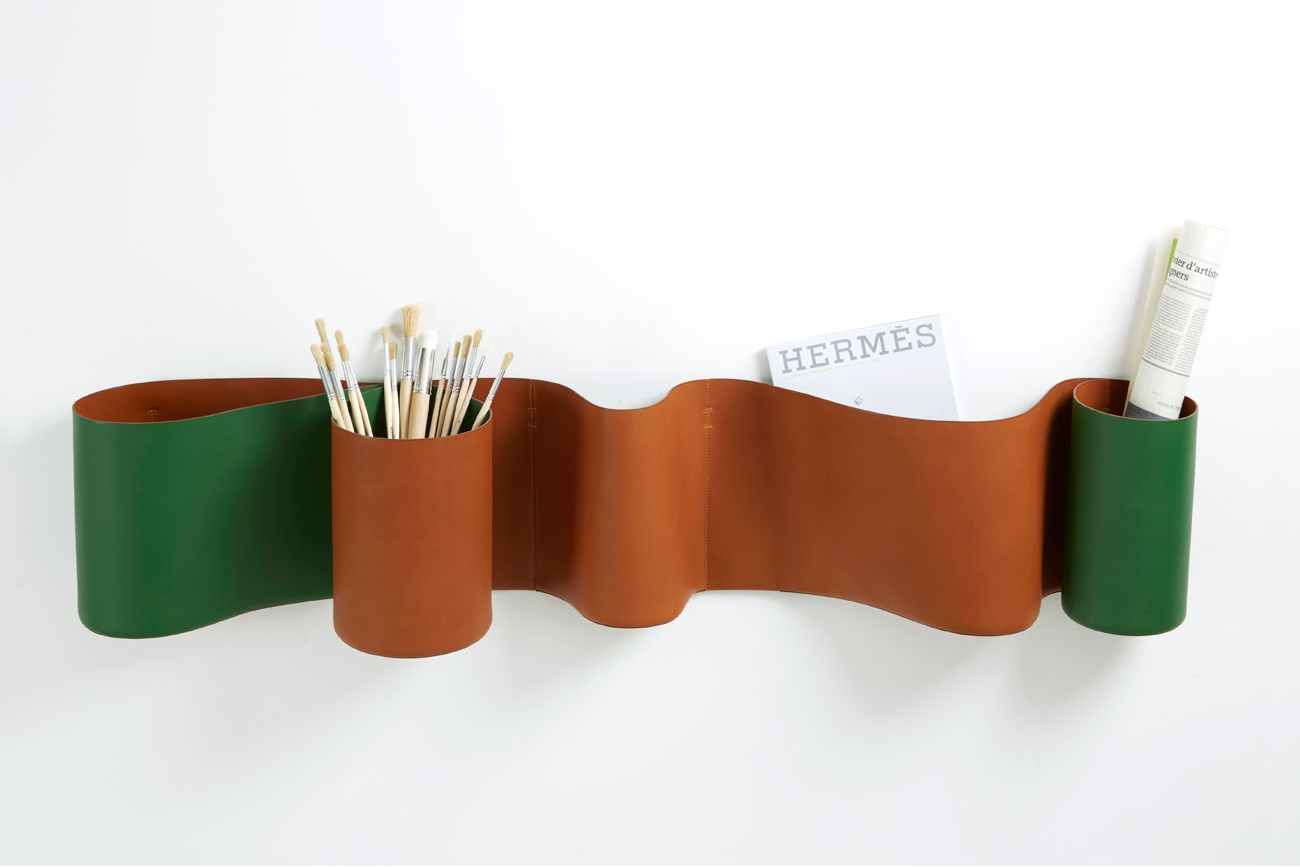 Waves of leather for petit h, Hermès.