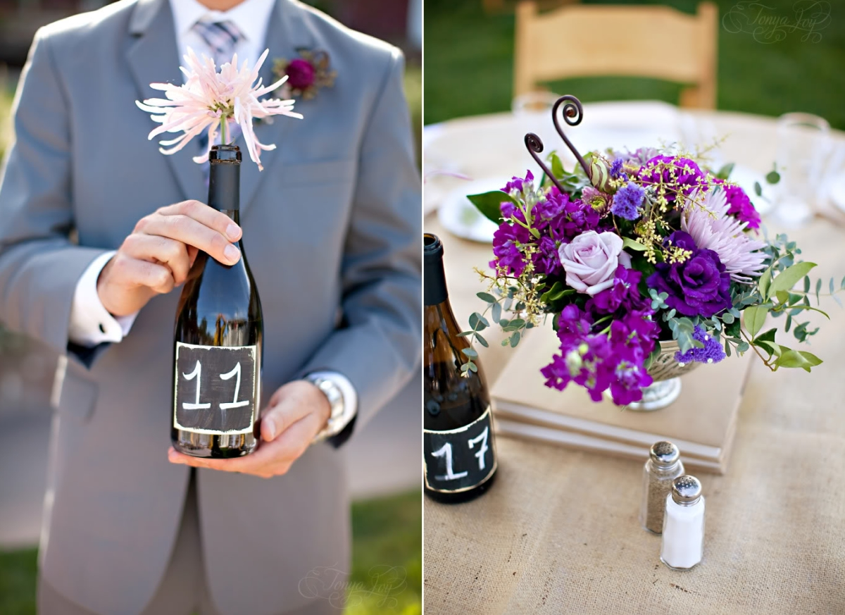 View in gallery Wine bottle table numbers