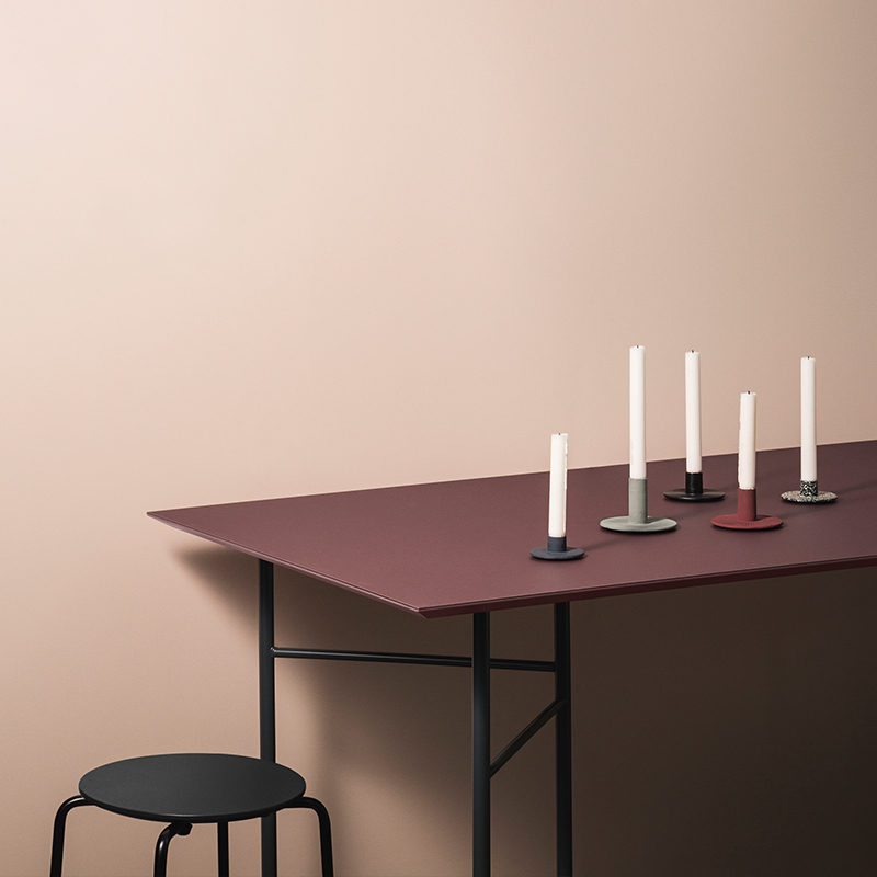 Wine-hued table from ferm LIVING