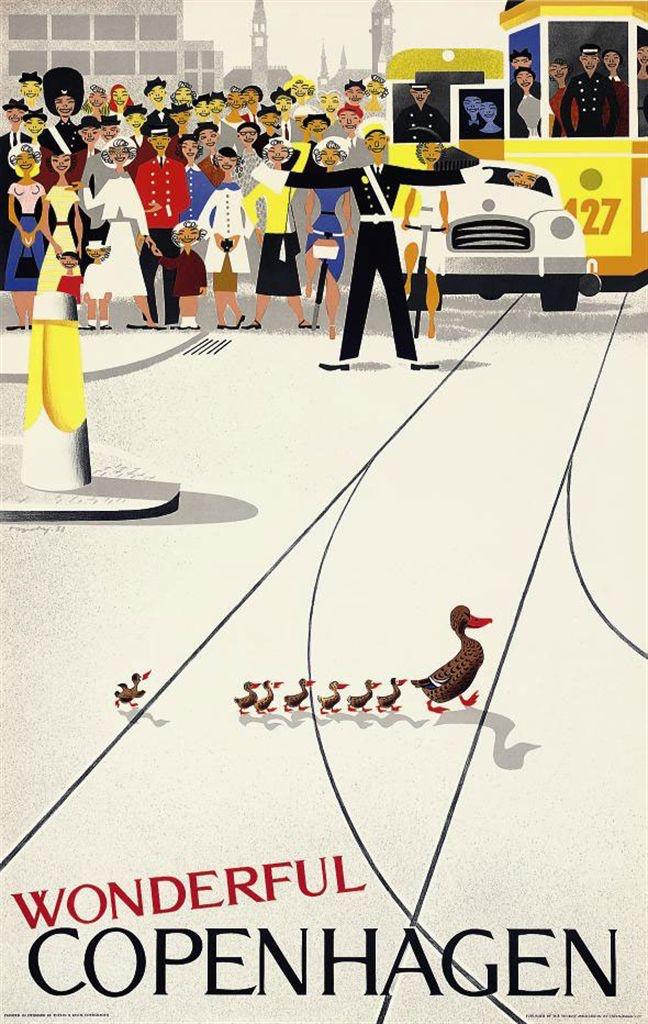 """Wonderful Copenhagen"" poster. Image via Christies."